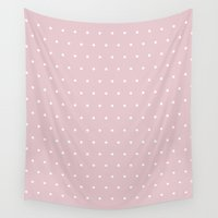 bisexual Wall Tapestries featuring Polka dot dance on pink by Better HOME