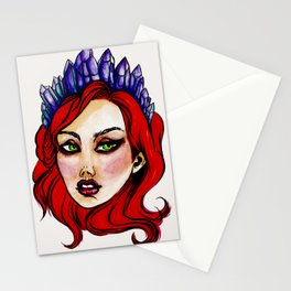Crystal crown Stationery Cards