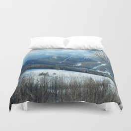 Ski Trails at Sugarbush Resort, Vermont Duvet Cover