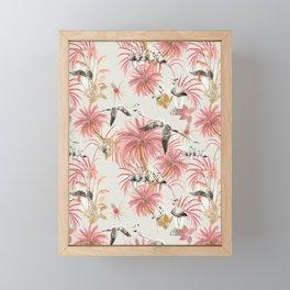 Tropical island of flamingos II Framed Mini Art Print