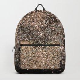 Sparkling GOLD BLACK Lady Glitter #1 #decor #art #society6 Backpack