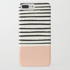 Peach x Stripes iPhone 7 Plus Slim Case