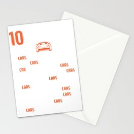 Racing Shirt With A Mini Illustration Of A Car T-shirt Design Made Perfectly For Car Racers! Stationery Cards