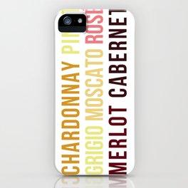 Wine Typography Spectrum iPhone Case
