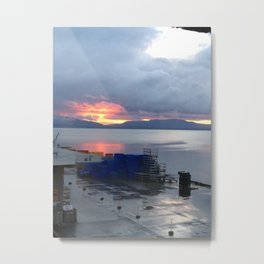 dockside sunset Metal Print