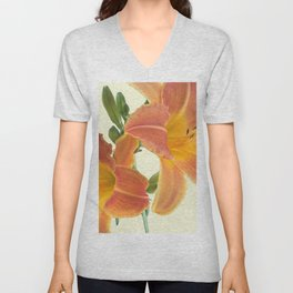 Garden Blooms - Orange Alone Unisex V-Neck