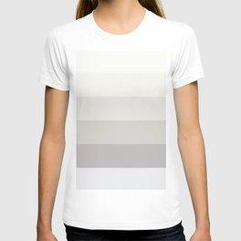 Elegant modern simple ivory pastel colors color block pattern T-shirt