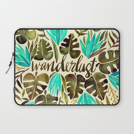 Tropical Wanderlust – Turquoise & Olive Laptop Sleeve