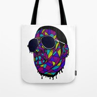 rap Tote Bags featuring Rap Gangster by emalakaite