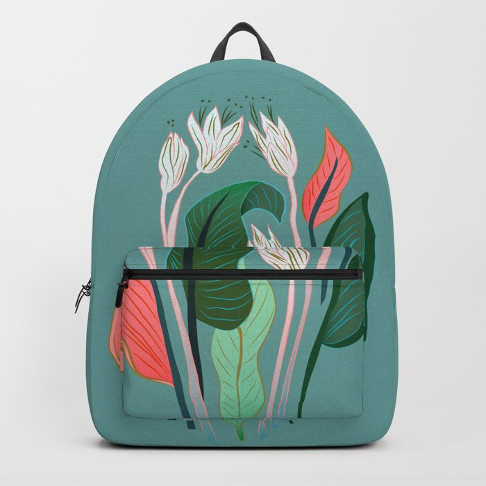Exotic Dream Flower Backpack