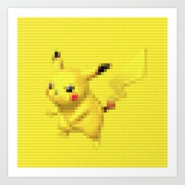 Electric Mouse - Legobrick Art Print