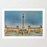 budapest Art Prints featuring Budapest by jamesrizzi