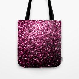 Beautiful Dark Pink glitter sparkles Tote Bag