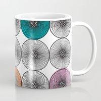 scandinavian Mugs featuring Scandinavian Abstract Floral by She's That Wallflower