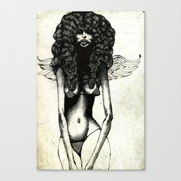 Angel Sketch #1 (censored) Canvas Print