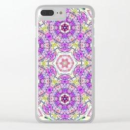 Purple Flower Bouquet Clear iPhone Case