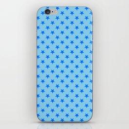 Brandeis Blue on Baby Blue Stars iPhone Skin