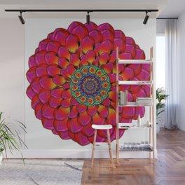 Dahlia Flower Endless Eye Abstract Wall Mural