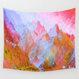 Paint of Mountain Wall Tapestry