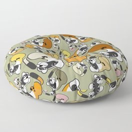 Black Footed Ferret pattern Floor Pillow