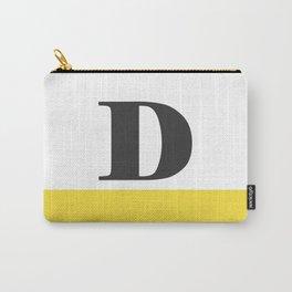Monogram Letter D-Pantone-Buttercup Carry-All Pouch