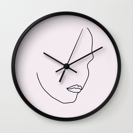 Line Art - Face Wall Clock
