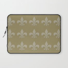 Fleur de lis neutral mono chroma yellow Laptop Sleeve
