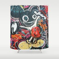 mickey Shower Curtains featuring Mickey Mau5 by Matt Pecson