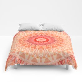Mandala soft orange Comforters