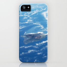 Earth orbit view ISS: Hawaii iPhone Case