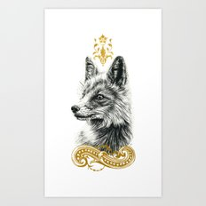 Beasts of the forest: Fox Art Print