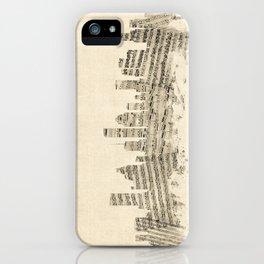 Houston Texas Skyline Sheet Music Cityscape iPhone Case