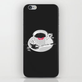 Coffee and Lipstick Coffee Drinker Sexy Gift Lips Kiss iPhone Skin