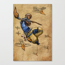 Malnourished Colored Canvas Print