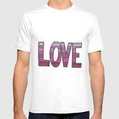Love Design Mens Fitted Tee White MEDIUM