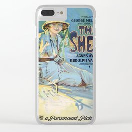Vintage poster - The Sheik Clear iPhone Case