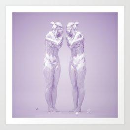 Mirrored Art Print