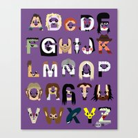 Horror Icon Alphabet Canvas Print