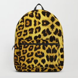 Leopard Print - Gold Backpack
