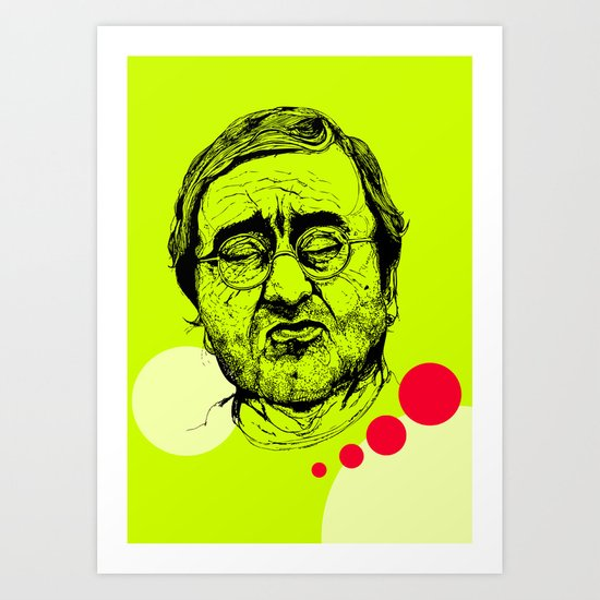 Lucio Dalla Art Print
