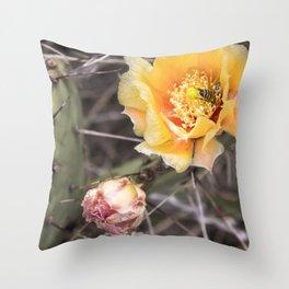 Opuntia Throw Pillow