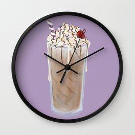 Frosty Chocolate Milkshake Wall Clock