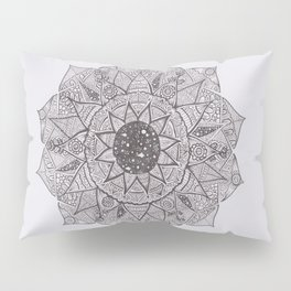black and white stars mandala Pillow Sham