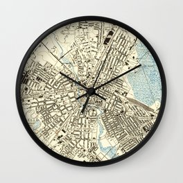 Vintage Map of Elizabeth NJ (1947) Wall Clock