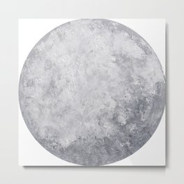 Lunar I – Acrylic Painted Moon Metal Print