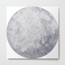 Lunar I – Acrylic Painted Moon Metal Print