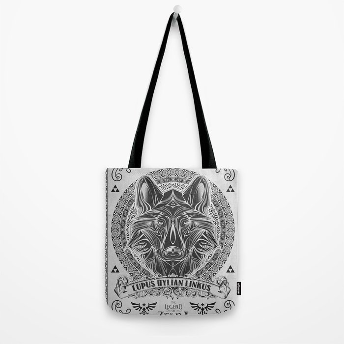 Legend of Zelda Twilight Wolf Link Line Art Tote Bag