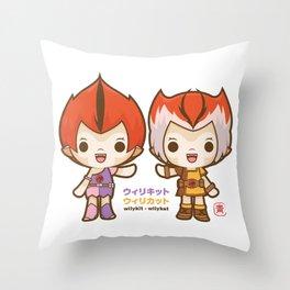 Willykit & Willykat - 2 Throw Pillow