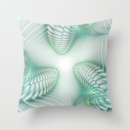 Ghost Busters - fractal - Slime - Lime - Manafold Art Throw Pillow