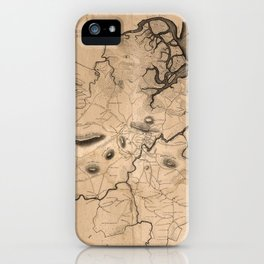Map of Ipswich 1832 iPhone Case